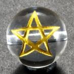スター 水晶 オニキス 金彫り 五芒星 12mm 【彫刻 一粒売りビーズ】 天然石 パワーストーン