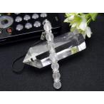 ショッピングストラップ 【ストラップ】 ストレートタイプ フロスト水晶 7ポイント 携帯ストラップ 天然石 パワーストーン