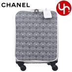 シャネル CHANEL バッグ キャリーバッグ A69903 ブラック×ホワイト CC カメリア トロリーバッグ 限定品 レディース