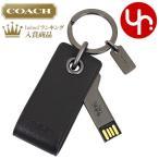 ショッピングキーリング コーチ COACH アクセサリー キーホルダー F64143 ブラック USB メモリー 4GB レザー キーリング アウトレット メンズ レディース