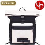 コーチ COACH バッグ リュック F56662 チョーク×ブラック パフォレイテッド ミックスド マテリアル テレイン バックパック メンズ レディース
