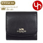 コーチ COACH 財布 三つ折り財布 F53768 ブラック ラグジュアリー クロスグレーン レザー スモール ウォレット アウトレット レディース