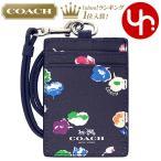 コーチ COACH 小物 カードケース F65573 レインボーマルチ スモール ワイルドフラワー プリント レザー ランヤード ID ケース アウトレット レディース