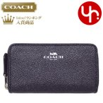 コーチ COACH 財布 コインケース F15153 ブラック グリッター クロスグレーン レザー スモール ダブルジップ コインパース アウトレット メンズ レディース