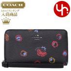 コーチ COACH 財布 二つ折り財布 F23450 ブラックマルチ プリムローズ フローラル プリント PVC レザー フォン ウォレット アウトレット レディース