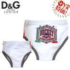 D&Gジュニア D&G junior アパレル アンダーウェア L10027OL0621 ホワイト×グレー ベビー バックHOCKEYプリントコットンパンツ 6/9M ベビー