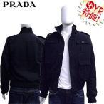 プラダ PRADA アパレル アウター UGW641 VVX F0002 ブラック メンズ胸ポケット付きリブ使い中綿ナイロンジャケット 46 メンズ