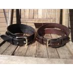 ショッピングhardy HARDY&SONS LeatherBelt/ハーディー&ソンズ レザーベルト ENGLAND製(黒/焦げ茶)