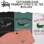 ステューシー 半袖Tシャツ STUSSY CATCH&RELEASE PIGMENT DYED S/SL TEE ピグメントダイドショートスリーブティーシャツ・カットソー・メンズ(男性用)