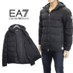 エンポリオアルマーニ EMPORIO ARMANI EA7 ダウン ベスト ロゴワッペン 6XPQ01-PN22Z-1200-ブラック/黒