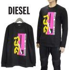 ディーゼル DIESEL ロンT 長袖Tシャツ グラフィックデザイン ブラック SUQY-0PATI T-DIEGO-LS-YA-900