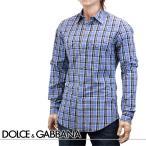 ショッピングドルチェ&ガッバーナ ドルチェ&ガッバーナ DOLCE&GABBANA ウエスタンシャツ ブルー G5BA3T-FQ5FT-S8104