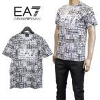 EMPORIO ARMANI Tシャツ ジオメトリック カモフラージュ 白