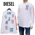 ディーゼル DIESEL ロンT 長袖 Tシャツ バックプリント SHCW-0091A T-JUST-LS-WB-100 ホワイト