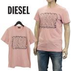 ディーゼル Tシャツ サボテンプリント ピンク SCQ8-0091B T-DIEGO-SL-32W