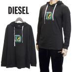 ディーゼル DIESEL ロンT パーカー フード付き 長袖 Tシャツ SCW4-0WAVV UMLT-JIMMY-900 ブラック
