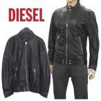 ショッピングDIESEL ディーゼル DIESEL レザージャケット ライダースジャケット S11D-0DAMJ L-TOD-900 ブラック