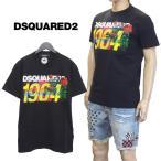 ディースクエアード DSQUARED2 Tシャツ 1964フラワープリント ブラック GD0739-S22427-900