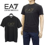 ショッピングアルマーニ エンポリオアルマーニ EA7 メンズ Tシャツ ブランドロゴ 3YPTF7-PJ18Z-1200 ブラック