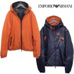 エンポリオアルマーニ EMPORIO ARMANI EA7 ダウン パーカー 6XPB06-PN22Z-1200-ブラック/黒
