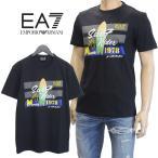 EMPORIO ARMANI EA7 Tシャツ フロントロゴ ブラック