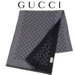 ショッピングGG グッチ GUCCI マフラー ダブルGGジャカードウール スカーフ 391246-4G200-1160 グレー×ブラック