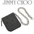 ジミーチュウ JIMMY CHOO 財布 メンズ 二つ折り ウォレットチェーン CHILTERN-EMG-BLACK