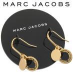 ショッピングMARC マークジェイコブス MARC JACOBS ピアス ロゴディスク エナメル M0008541-062 BLACK×ORO