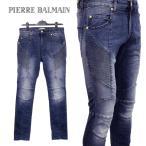 ピエール バルマン PIERRE BALMAIN ジーンズ バイカーデニム HP57202J-G7258-725 ブルー