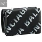 バレンシアガ/BALENCIAGA 財布 メンズ CASH MINI WALLET 三つ折り財布 GREY BLACK 2021年春夏新作 594312-1WV03-1160