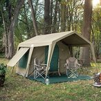 Delta Zulu 3000 Canvas 4 Person Chalet Tent. Canvas camping tent or outfitter tent with waterproof ripstop canvas. Four season military grade canvas t