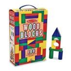 ショッピングメリッサ Colored Wood Blocks - Melissa & Doug (メリッサ&ダグ メリッサ アンド ダグ) 100-Piece Wood Blocks