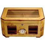 パラシオバールウッド 葉巻ケース/湿度計 ヒュミドール150カウント Cuban Crafters社