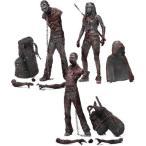 ウォーキングデッド3ブラッディ白黒Michonneとペットゾンビアクションフィギュア、3パック