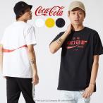 Coca Cola コカコーラ Tシャツ メンズ 半袖 クルーネック カットソー ロゴ プリント ホワイト ブラック イエロー 白 黒 黄色 サーフ系