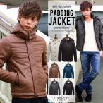 中綿 フード ジャケット レザージャケット ブルゾン メンズ フェイクレザー 中綿ジャケット improves 冬服 冬物 冬 送料無料 セール SALE