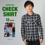 チェックシャツ メンズ シャツ 長袖 アメカジ トップス カジュアルシャツ メール便対応 improves 夏 夏服 夏物 サマー SALE セール