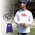 SURF/BRAND サーフブランド S/B エスビー ロングTシャツ メンズ ロゴ プリント Tシャツ 長袖 ロンT ロンティー 長袖Tシャツ