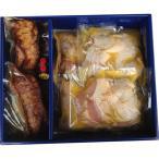 お肉 ギフト 詰め合わせ 送料無料 焼き豚P 焼豚・骨付き鶏若鶏セット