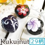 ククイナッツ 天然 ハワイアンレイやアクセサリー制作に CNG-103kara222 INAZUMA画像