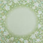 風呂敷 ふろしき 京ちりめん 二巾 約68cm 桜ぼかし柄 ライトグリーン M18#501