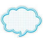 抜型カード 立体枠 吹出し 大 ブルー/50枚×5冊入/業務用/新品