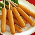 豚肉、鶏肉を使用した串付きあらびきフランクフルトソーセージです。 ロールパン等にピッタリのサイズです。...