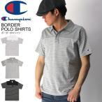 (チャンピオン) Champion ボーダー ポロシャツ ポケット ポロシャツ 切り返しカットソー メンズ レディース