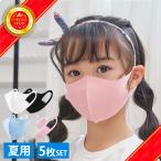 マスク 冷感 夏用 洗える 伸縮マスク 子供用 大人用 5カラー 5枚セット 小さめ 洗える 繰り返し 立体マスク 保湿 予防 セール 送料無料 ポイント消化