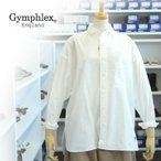 ショッピングジムフレックス ジムフレックス 【レディース】 J-1309HGL WHITE ハイカウント ポプリン ルーズフィット シャツ Gymphlex