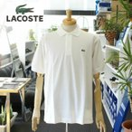 LACOSTE ラコステ MEN'S (MADE IN JAPAN) ショートスリーブ PIQUE ポロシャツ L-1212X BLANC(WHITE)