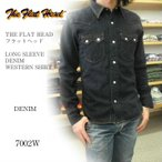 THE FLAT HEAD フラットヘッド LONG SLEEVE DENIM WESTERN SHIRT ウエスタンシャツ 7002W DENIM