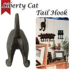 (SPICE)Liberty Cat(リバティキャット)テイルフック ネコモチーフ/壁掛け/壁フック/猫/尻尾/シンプル/アンティーク