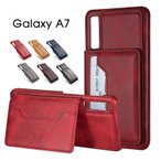 Galaxy A7 ケース 耐衝撃 ギャラクシーA7ケース 背面保護 galaxy a7 カバー カード収納 ギャラクシーa7ケース おしゃれ Galaxy A7背面ケース スタンド機能